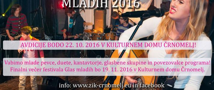 Razpis za festival Glas mladih 2016