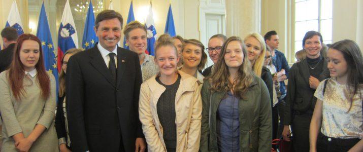Obrazi prihodnosti 2017 – sprejem pri predsedniku države Borutu Pahorju